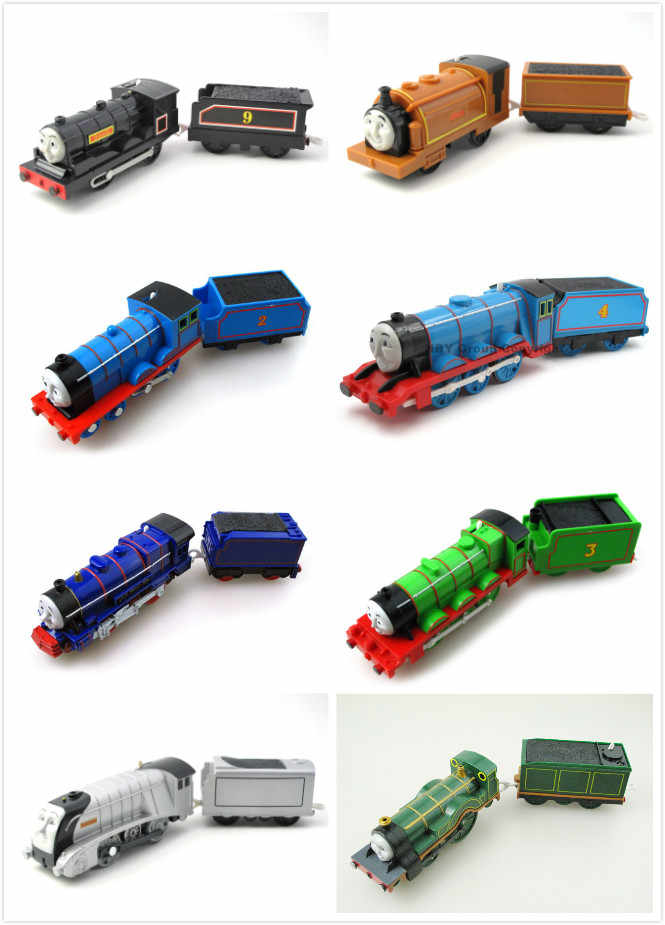 Multi Style Two-Section Electric Train Trackmaster Car Locomotive Engine Railway Toys Vehicles for Children