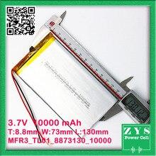3,7 в 10000 мАч батарея для солнечной энергии банк двойной USB переносной аккумулятор внешняя батарея портативное зарядное устройство Bateria Externa упаковка