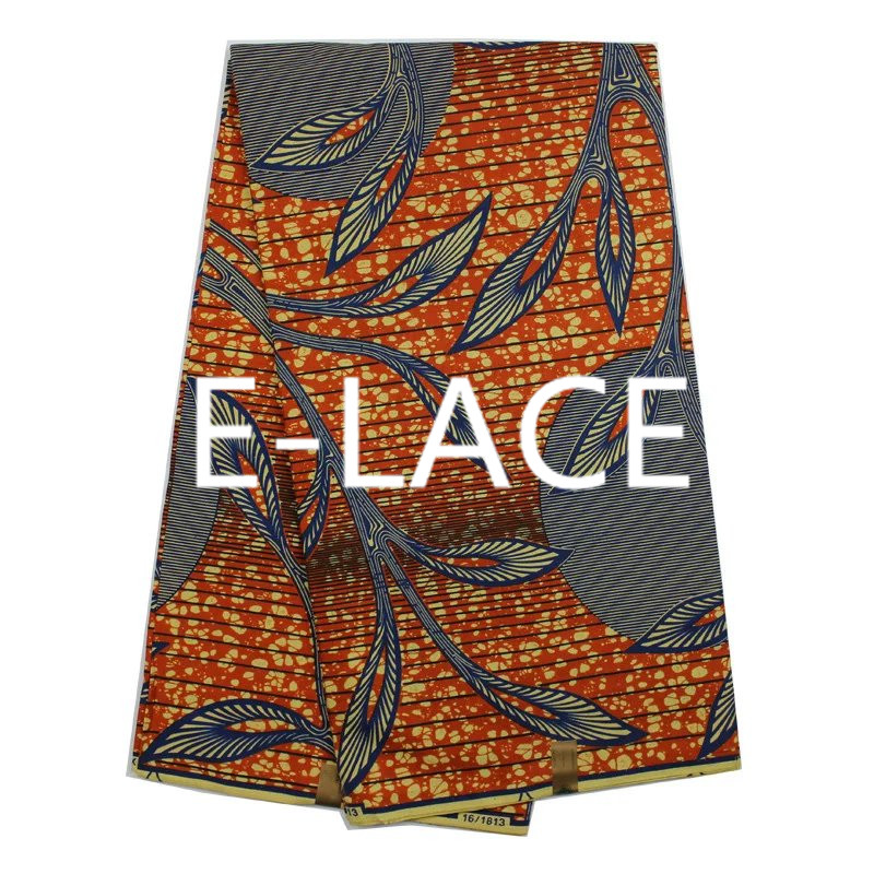 Simple Design Batik Wax Cotton Fabric High Quality African
