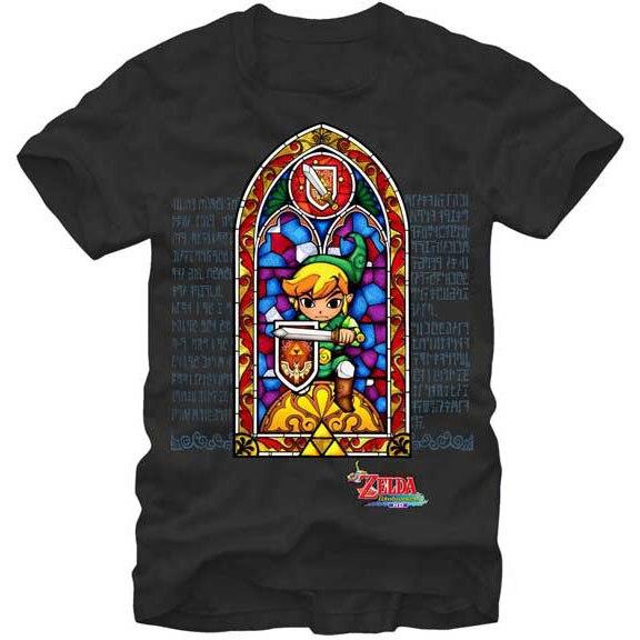 Hot Sale Gildan Funny T Shirt Men Novelty Tshirt Zelda Stained Glass T-shirt Tops & Tees
