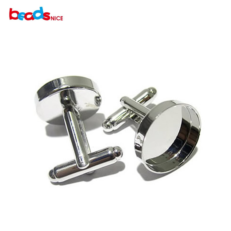 Beadsnice ID4188 Cufflinks For Mens Personalized Cuff Link Blanks With Round Bezel Setting Match 16mm Cabochon