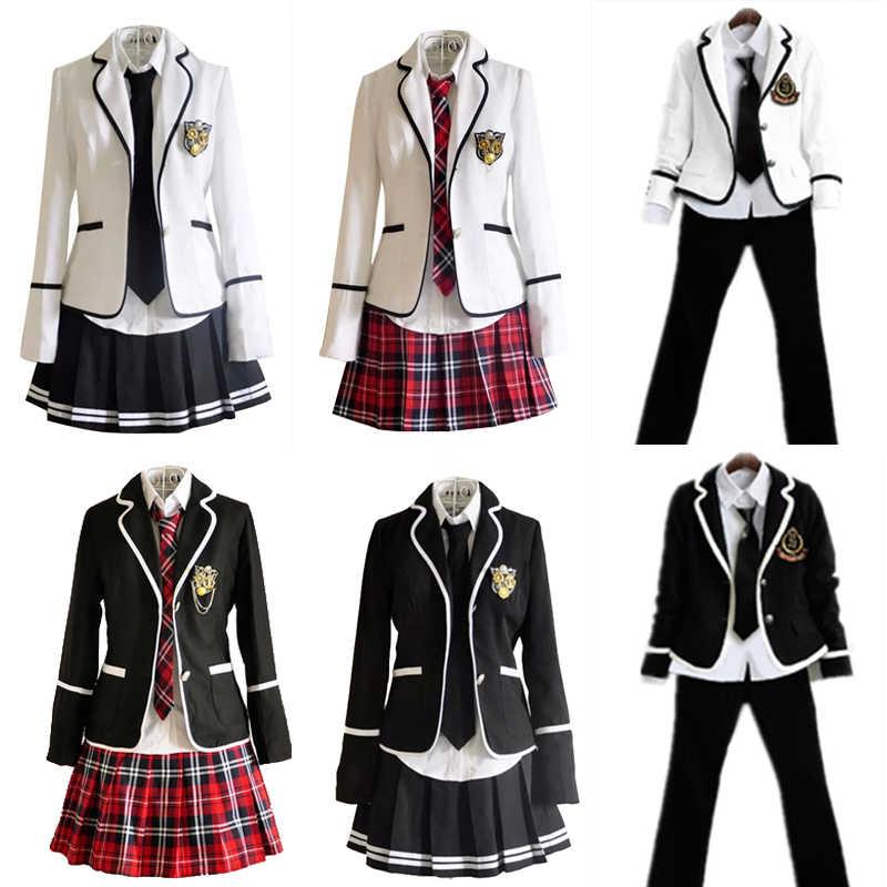 b311c70485e3e2 Japan Korea Jk Uniforms High School Boys Girls Students Long-sleeved School  Uniforms Male Female