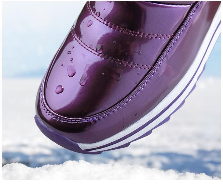 Image 4 - Женские ботинки высокого качества; Новое поступление 2019 года; Водонепроницаемая зимняя обувь с густым мехом; нескользящие женские зимние ботинки на платформе; 40; n541-in Теплые сапоги from Обувь