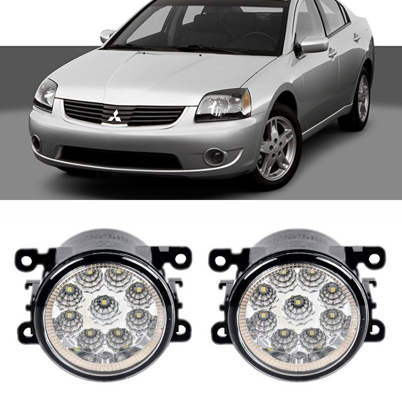 Car-Styling For Mitsubishi Galant Saloon 2006-2012 9-Pieces Led Fog Lights H11 H8 12V 55W Fog Head Lamp