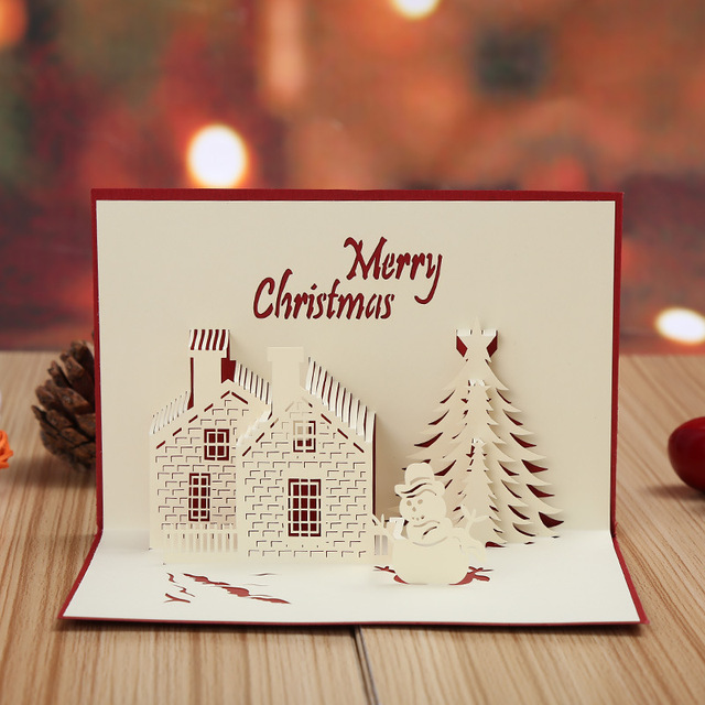 Manufacturers selling christmas castle 3d stereo hollow christmas manufacturers selling christmas castle 3d stereo hollow christmas card creative new year greeting cards can be m4hsunfo
