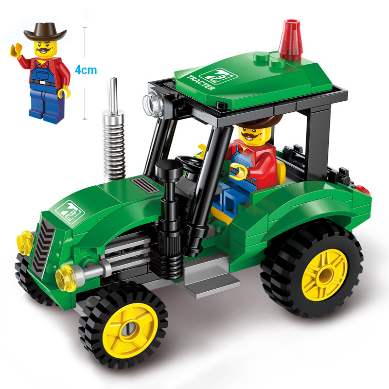 112pcs Legoings New City Engineering Tractor Assembled Plastic Model Building Block Toys Boys Birthday Holiday Gifts