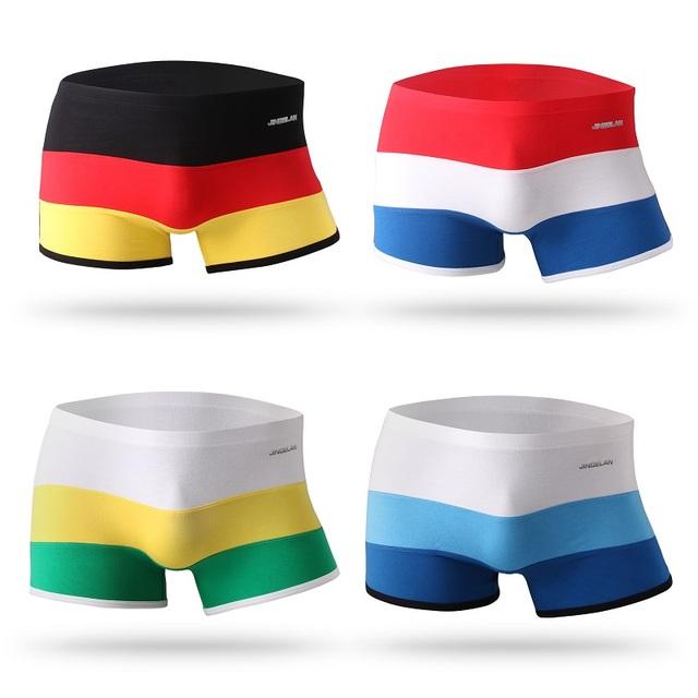 Bamboo Fiber Underwear Men Brand Striped Boxer