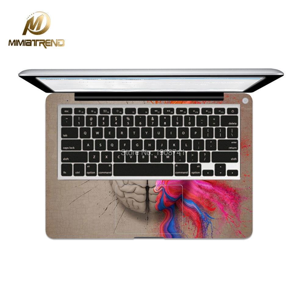 Mimiatrend lewy i prawy Laptop mózgu Naklejka naklejka na Apple - Akcesoria do laptopów - Zdjęcie 2