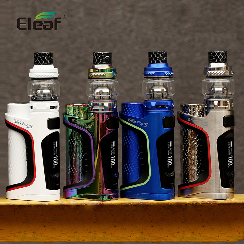 Originale Sigaretta Elettronica Kit Eleaf iStick Pico S con ELLO VATE kit 100 w max potenza con HW-M e HW /N testa bobina