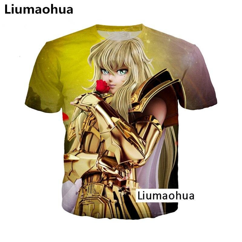 Liumaohua Episode Zero Saga Gold Saint Seiya T-shirt Knights Of The Zodiac 3d Printig Long Sleeve Cosplay Anime Cool T-shirt