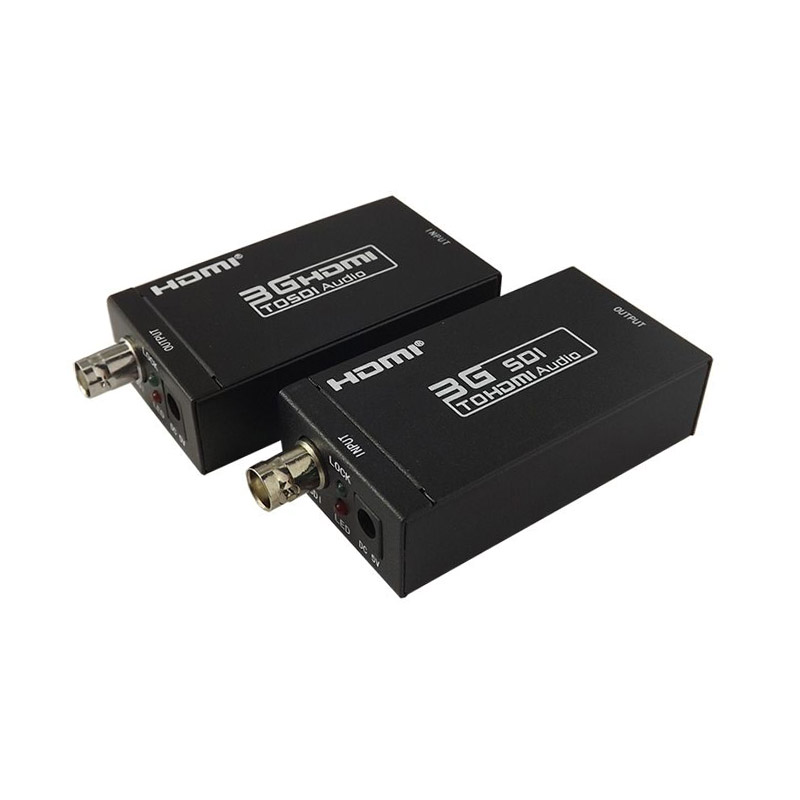 UP to 100m, HDMI Extender Over Single Coaxial Cables 1080P HDMI-SDI + SDI-HDMI hsv379 sdi hdmi extender with lossless and no latency time over coaxial cable up to 200 meters support 1080p hdmi extender
