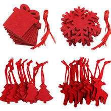 Felt Crafts Creative Red Non-woven Christmas Tree DIY Hanging Home Decoration Hotel Party and Festival