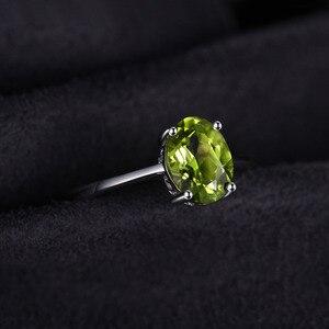 Image 3 - JewelryPalace oryginalna Peridot Ring Solitaire 925 srebro pierścionki dla kobiet pierścionek zaręczynowy srebro 925 kamieni szlachetnych biżuteria
