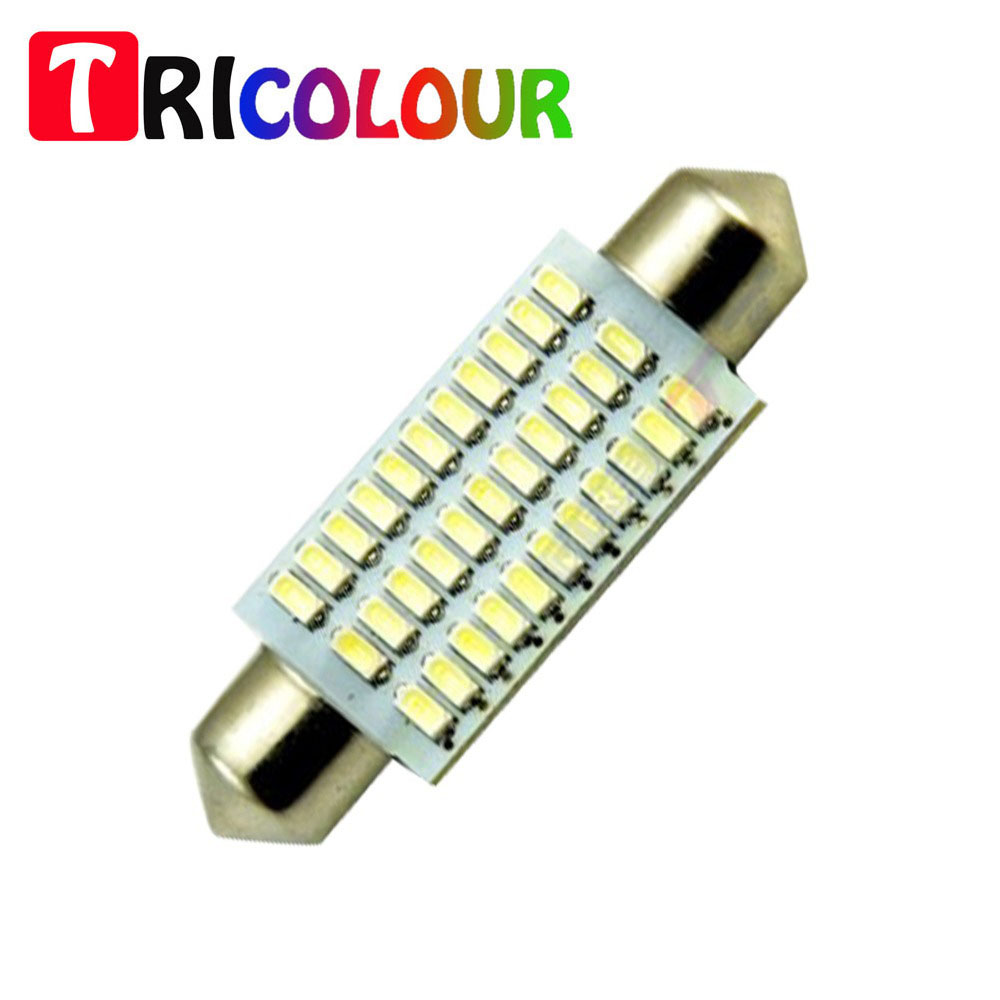 10pcs led 578 42mm 3014 33smd dome light bulb for - Led interior lights for 2013 chevy silverado ...