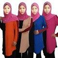 Camisa das mulheres muçulmanas Dubai Senhoras Roupas tamanho Grande Mulheres Senhoras Árabes Kaftan Caftan Turco Malásia camisa Com Capuz