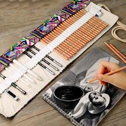 Esboço conjunto de lápis profissional esboço desenho ferramenta log pintura lápis saco pintor escola estudante arte suprimentos
