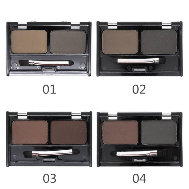 Mother Home Eye Brow Dye Makeup 2 Color Eyebrow Powder Palette Waterproof Eyebrow Tattoo Cake Shadow Kit with Brush 1