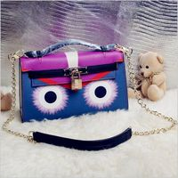 Genunie Leather Handbag Lady Bags New Little Monster Eyes Package Pattern Small Monster Eyes Diagonal Shoulder