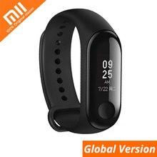 Xiaomi Mi группа 3 глобальная Версия смарт-Браслет фитнес-браслет часы группа 3 большой сенсорный экран сообщение пульсометр время Smartband