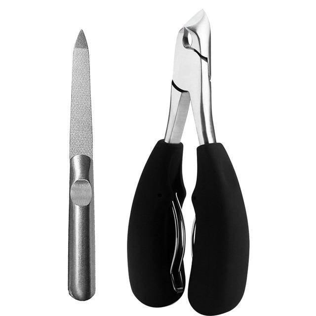 Ergonomic Black Stainless Steel Scissor Manicure Tool Ingrown Toenail Nail  5
