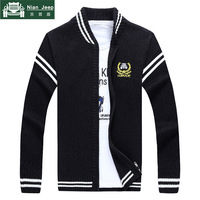 2018 Keep Warm Autumn And Winter Cardigan Sweater men Stand Collar Knitted mens sweaters Casual Slim fit Cardigan Homme M 3XL