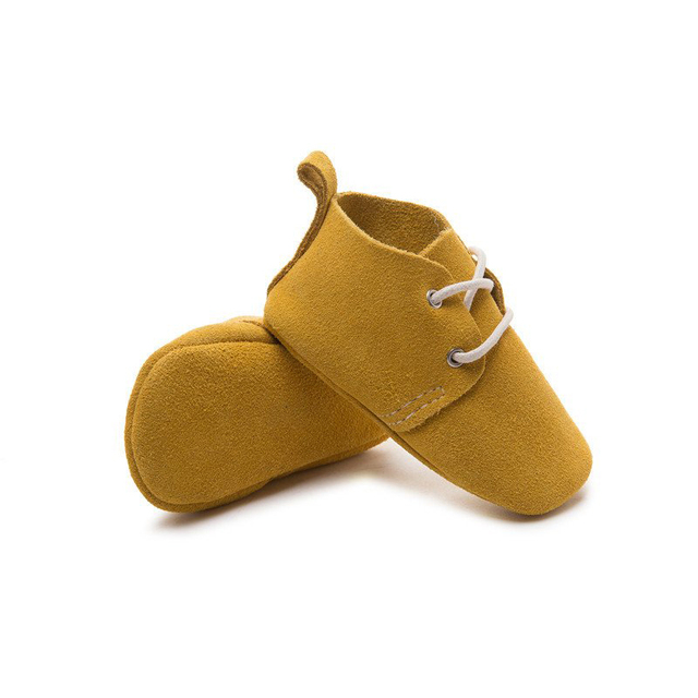 Handmade Bright yellow Baby Moccasins Oxford Baby Shoe