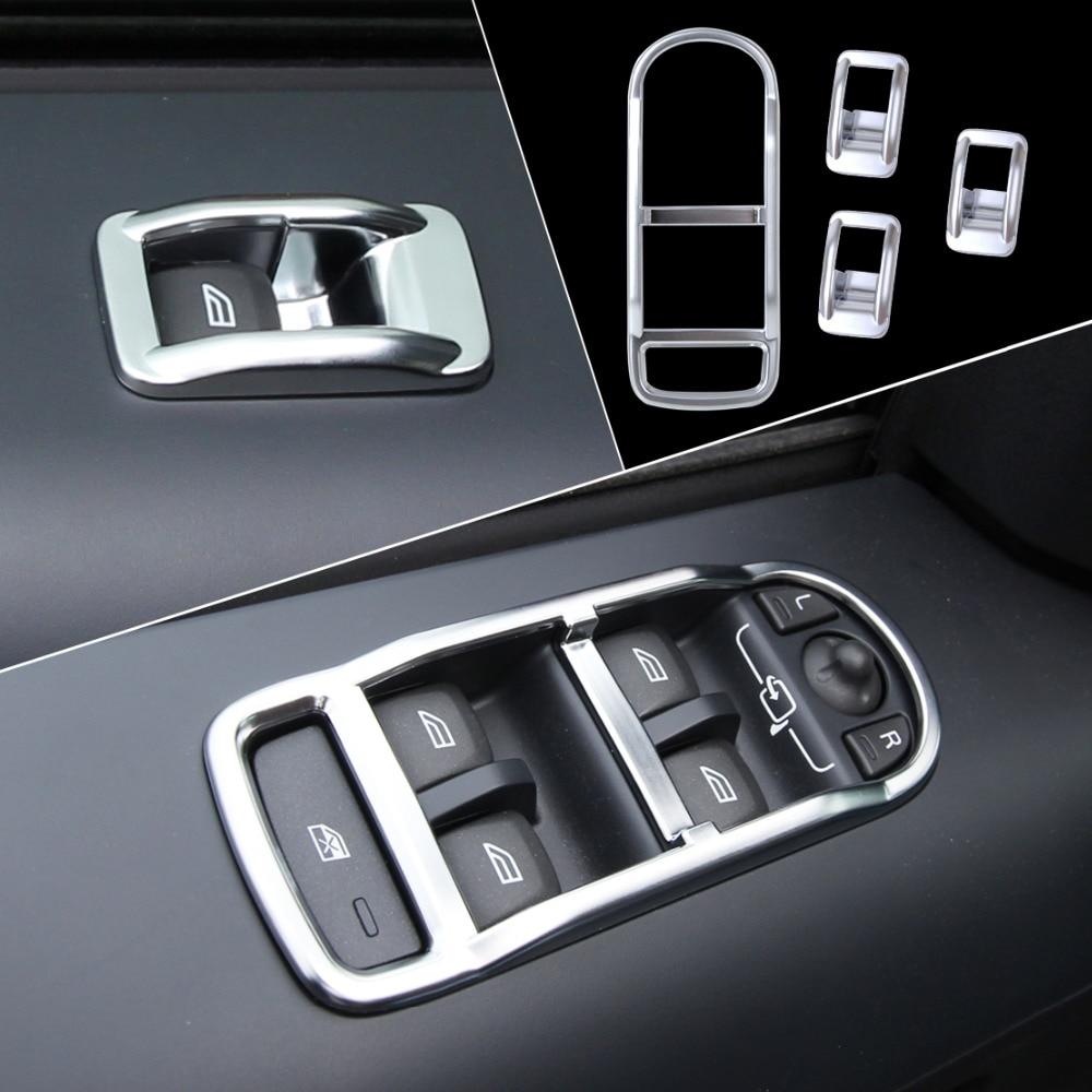 2008 Land Rover Lr2 Interior: Beler 4x Chrome Interior Door Window Switch Panel Cover