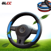Universal Car Steering Wheel Cover Microfiber Leather Sport Style High Quality Steering Wheel Covers 4 Colors