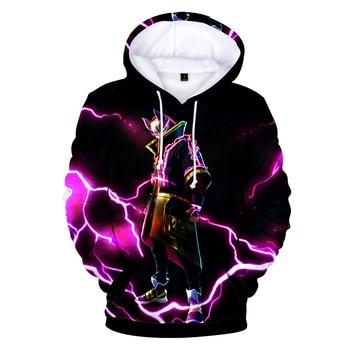 Fortnited Battle Royale Pink Streetwear Drawstring Hoodie Men Hip Hop Sweatshirts 3d Anime Print Pullover Punk Hipster x5460