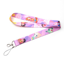 Patchfan Steven Universe cartoon keyring keychain neck lanyard webbing ribbon strap id badge phone holder necklace A1569