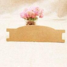 21*5.90cm 100 pces cartão de papelão de papel kraft elástico bandana de exibição tag cartão de embalagem de banda de cabelo personalizado logotipo custo extra