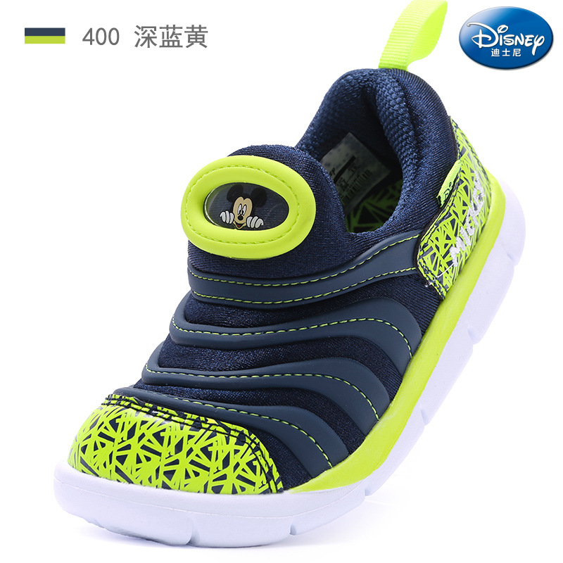 2018 autumn and winter new Disney caterpillar children's shoes boys non slip sports shoes girls lightweight running shoes-in Sneakers from Mother & Kids    1