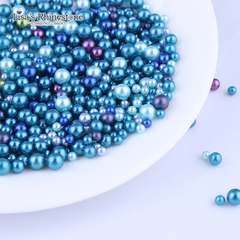 3//4//5//6mm Imitation Pearl No Holes Beads ABS Plastic Loose Beads for DIY Art Crafts Findings 1300pcs 5mm