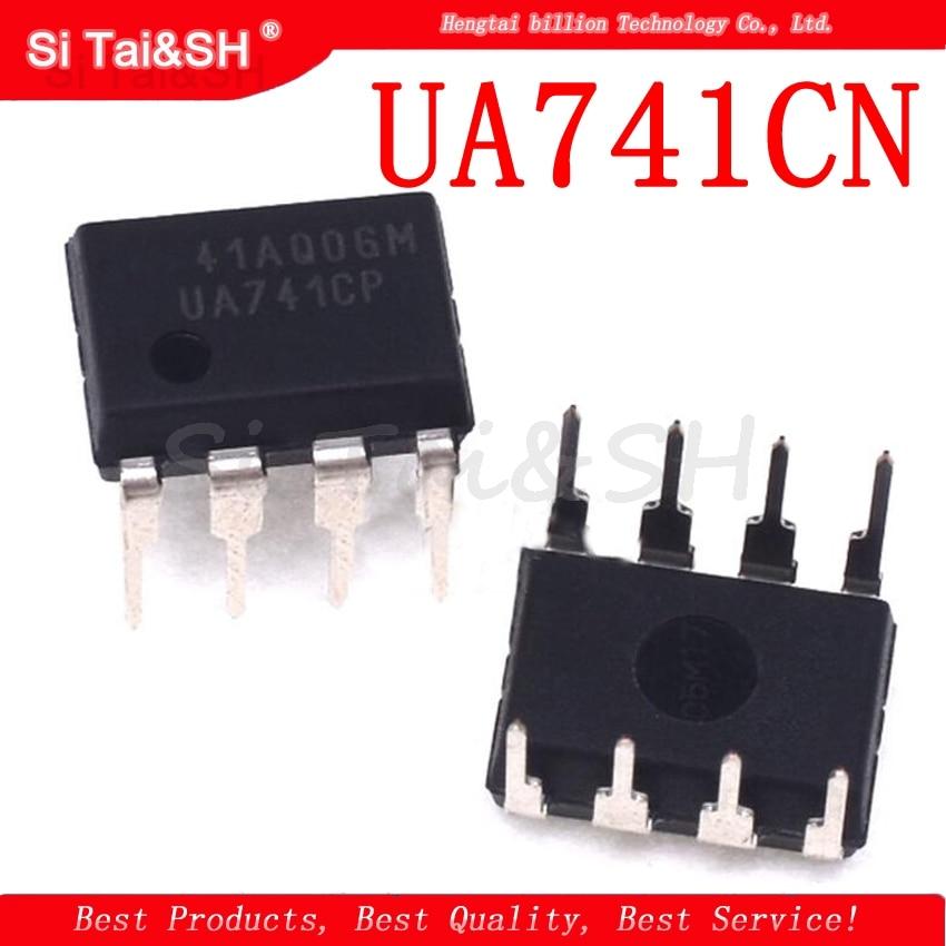 20PCS DIP8 IC UA741CN UA741CP UA741 OP Amp LM741 741 TI IC OPAMP GP 1MHZ Original