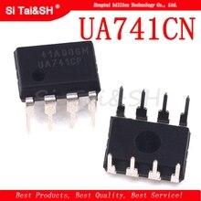 20PCS DIP8 IC UA741CN UA741CP UA741 OP Amp LM741 741 TI IC OPAMP GP 1MHZ המקורי