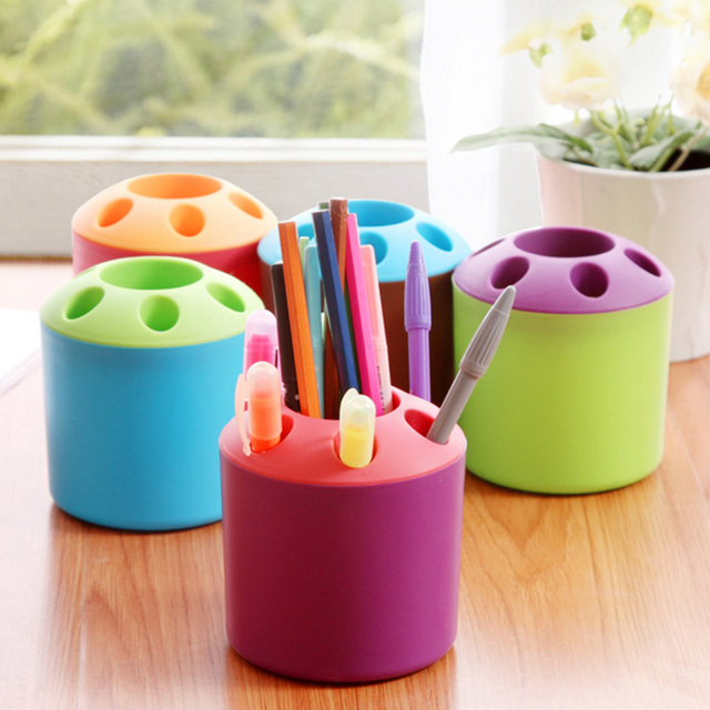 Plastic Bathroom Toothbrush Holder Cups Home Toothpaste Mkaeup Brush Pen Tableware Storage Organizer Stands