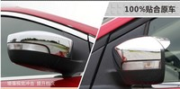 Higher star ABS chrome 2pcs car side door mirror decoration protection cover For KUGA/ESCAPE 2013