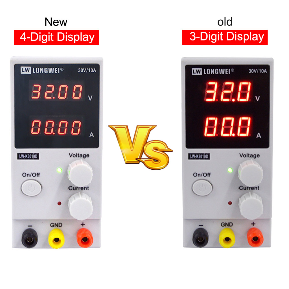 Image 2 - LW 3010D Laboratory Adjustable DC Power Supply 30V 10A 4 digit Display Adjustable Switching  Power Supply laptop Phone Repair-in Voltage Regulators/Stabilizers from Home Improvement