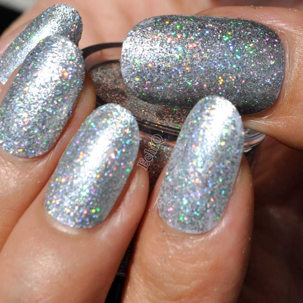 Peachy Holographic Silver Nail Art Glitter Diy Manicure Decoration Laser Powder Nail Salon Product N32 Gmtry Best Dining Table And Chair Ideas Images Gmtryco