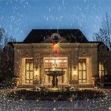Solar Power Source Laser Light Outdoor 6 Program Model Light For Garden/House/Party Decoration Christmas Light IP44 Waterproof