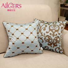 Avigers Luxury Embroidered Cushions Cover Home Decorative Throw Pillows  Pillow Case Core Peacock Blue Kid Geometric Flower Sofa