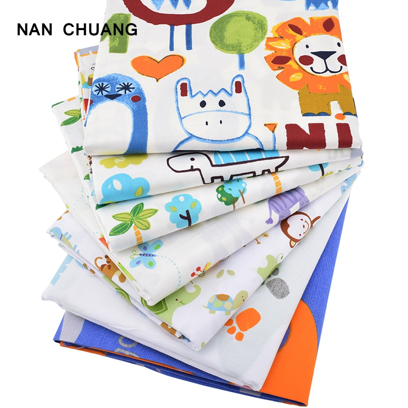 Nanchuang twill cotton fabric patchwork cartoon tissue for Children s material sewing