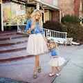 Madre e Hija Falda Del Tutú Mini Por Encargo de Gasa saia Midi Faldas de Tul Bouffant Puffy Falda de La Manera del Otoño de la muchacha