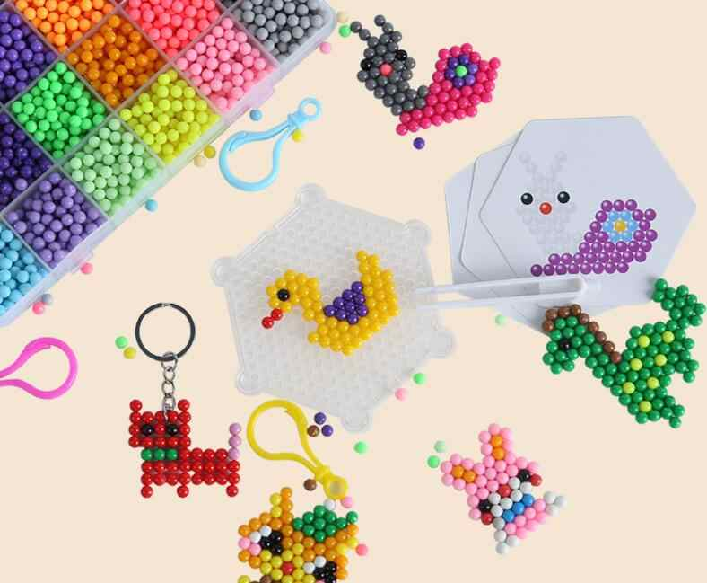 Magic water beads  pegboard sticky Water beads Accessories fuse beads jigsaw puzzle beadbond educational toys diy