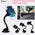 Car Windshield Mount Rotating Stand Phone Holder For iPhone 6 Samsung Cell Phone GPS Free Shipping POSTAGE FREE