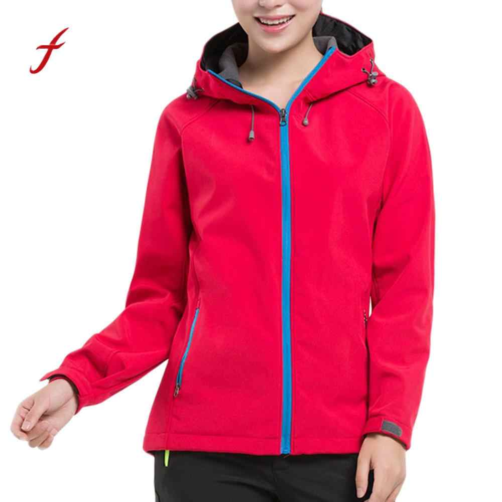 Spring Autumn Women's Jacket 2018 Fashion Casual outdoor soft shell outfits Clothes Female sports fleece Hooded Coat /PT