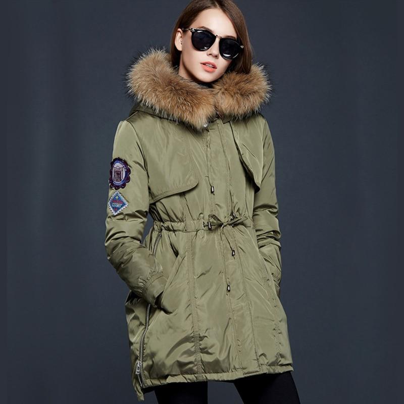 Women's cotton-padded Jacket 2017 Winter Jacket Women Long Down Cotton Plus Size Jacket Womens winter jackets and coats