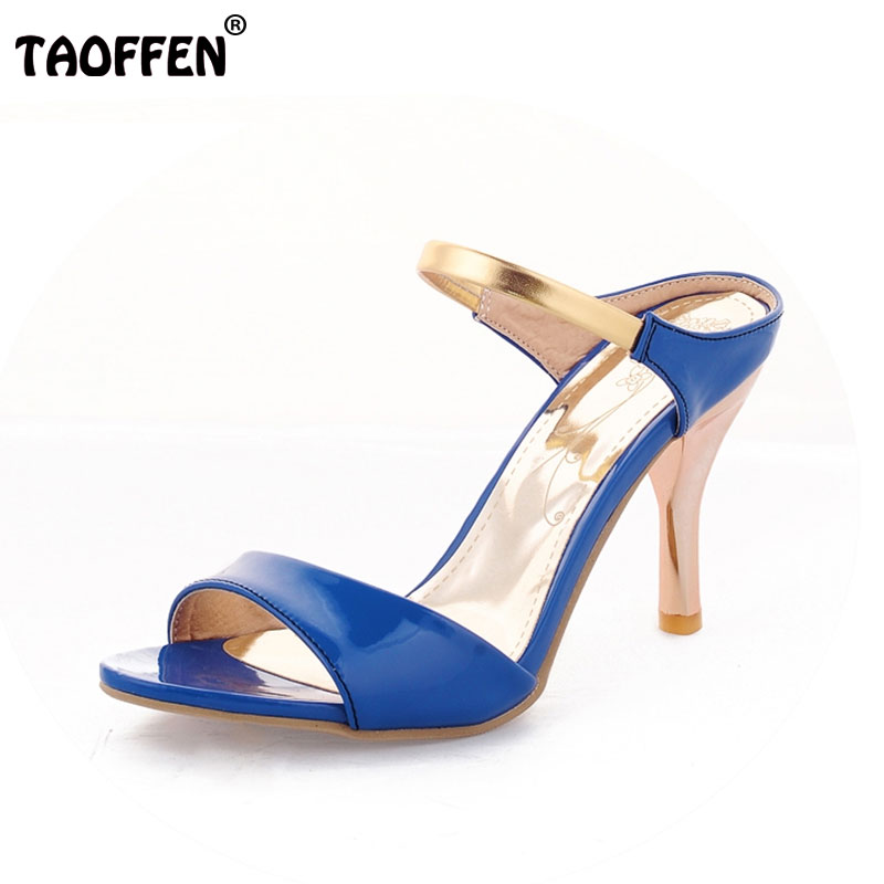Plus Big size 34-43 Sexy High Heels Women Gladiator Sandals New Arrivals Open Toe Less Platform Party Weddig Summer ShoesPA00893 new 2016 sexy gladiator ankle straps high heels fashion brand women sandal summer mixed colors open toe sandalias big size 34 43