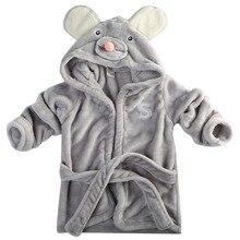Модный дизайнерский детский банный халат с капюшоном и изображением животных детский купальный халат с веревкой из мультфильма детская пижама infantil rope