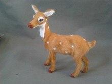 simulation 17x17cm sika deer model toy polyethylene & furs female deer model ,home decoration gift t248